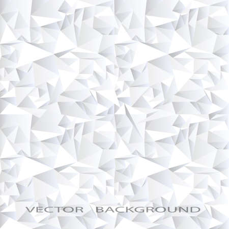 White crystal abstract background Illustration