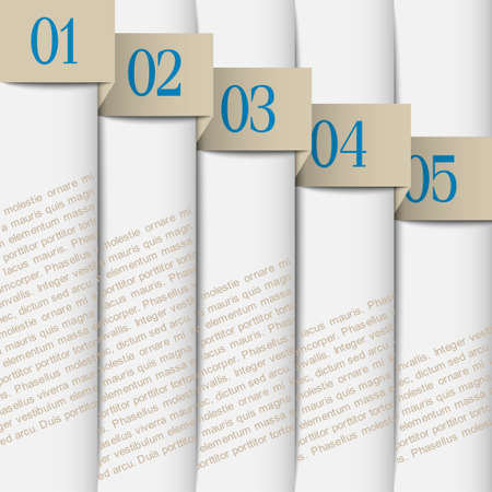 Vertical paper numbered banners  Stock Vector - 14210125