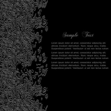 lustrous: Stylish black abstract background for design Illustration