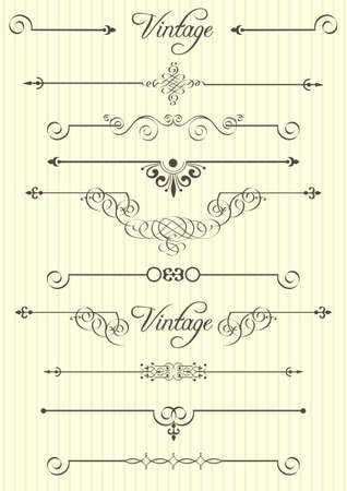 calligraphic design elements and page decor Stock Vector - 14258300