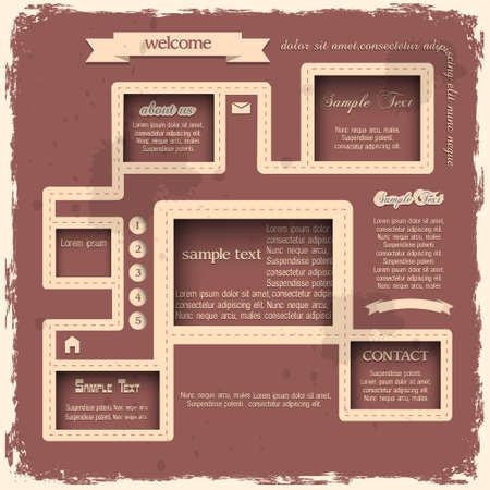 Retro style web design Stock Vector - 14370823