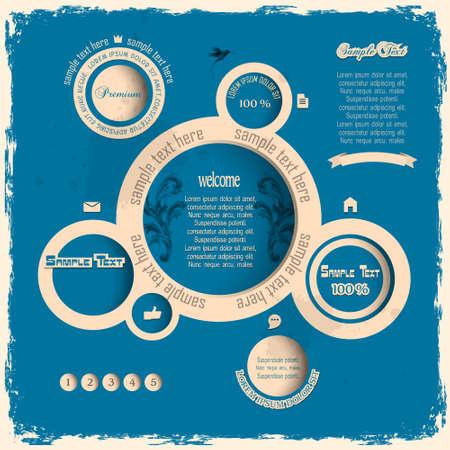 Vintage web design bubbles   Vector