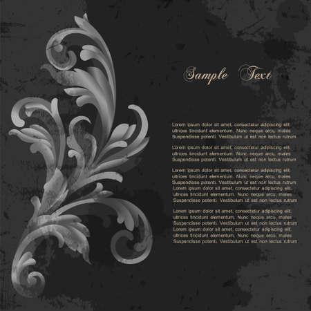 Floral grunge background  Vector