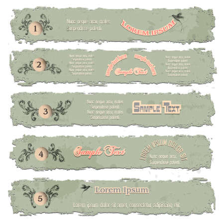 Grunge numbered banners Stock Vector - 14370829