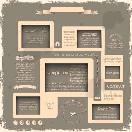 Web design in Retro style  Vector