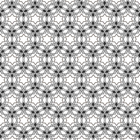 Monochromatic pattern on islamic motif