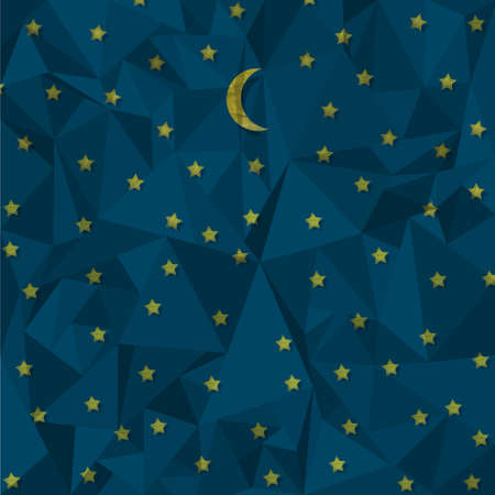 crinkle: Night sky made from crumpled paper  Vector eps10