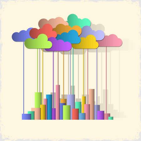Rainbow city  Concept background Stock Vector - 14414482