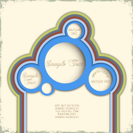 background with circles  Retro style design Stock Vector - 14414485