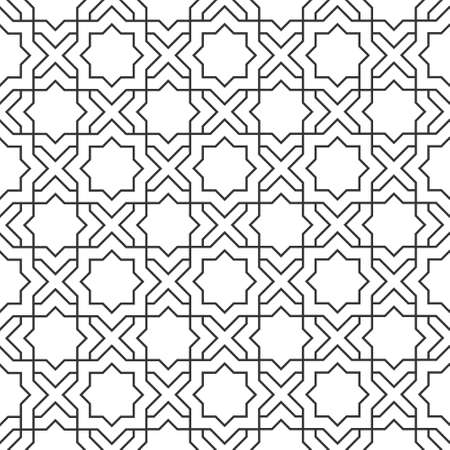 in islamic art: Delicate pattern in style Seamless