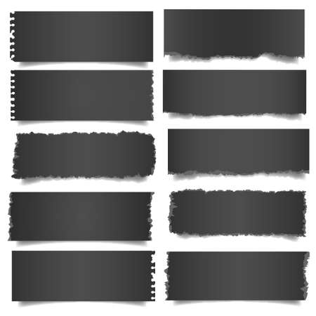 Ten black notes paper   Stock Vector - 14414497
