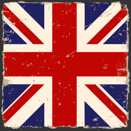 grunge British flag Vector