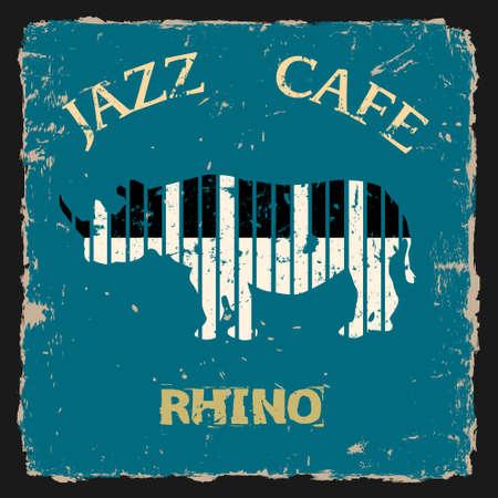 Musical Rhino  Conceptual Vector