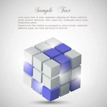 3d cube. Stock Vector - 14604133