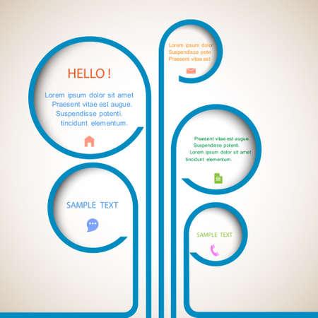 web template design: Tree of web design bubbles.