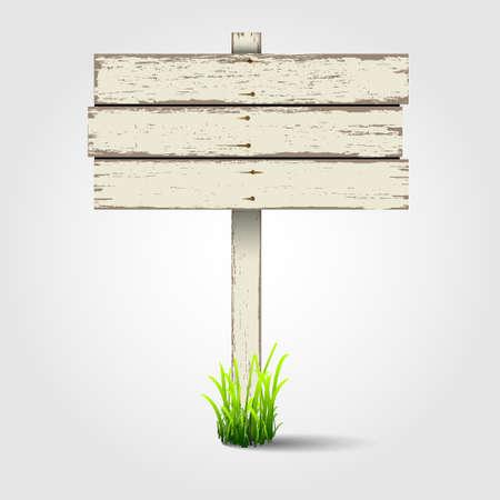 arrow wood: Letrero de madera vieja. Vectores
