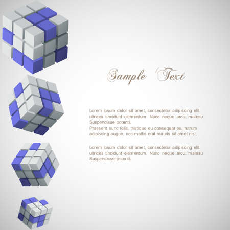 Background with 3d cubes Stock Vector - 14604014