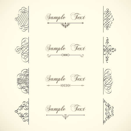 ornamental scroll: Decorative design elements