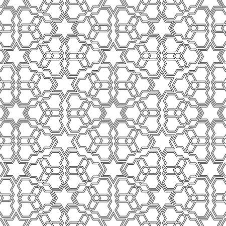 monochromatic: Arabian delicate pattern. Vector illustration Illustration