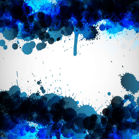 Blue ink blots vector background  Vector