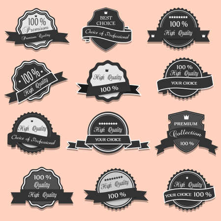 Collection of Premium Quality labels Stock Vector - 14659818