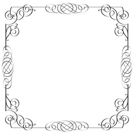 Delicate calligraphic frame. Vector