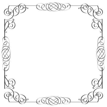 Delicate calligraphic frame. Illustration