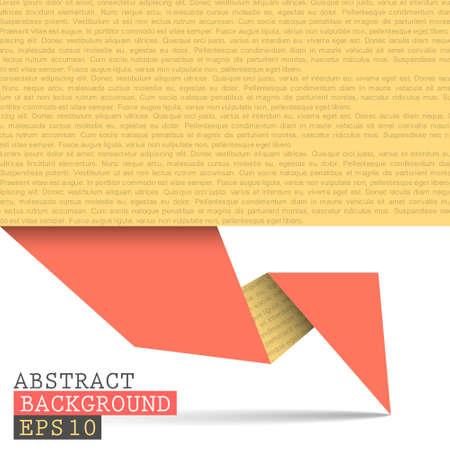 Paper origami vector background Stock Vector - 14659848