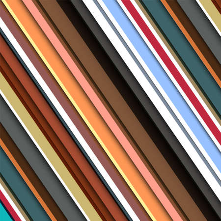Striped pattern in retro colors  Vector background Vector