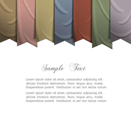 Vector background with silk ribbons  Vector