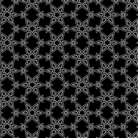 arabisch patroon: Vector zwart-wit Arabisch patroon