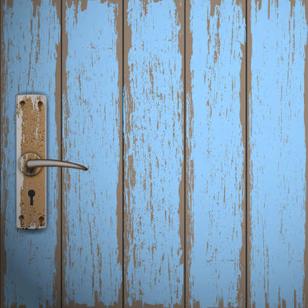 handles: Old wooden door. Vector background