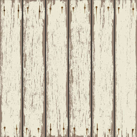 Old wooden fence. Vector background