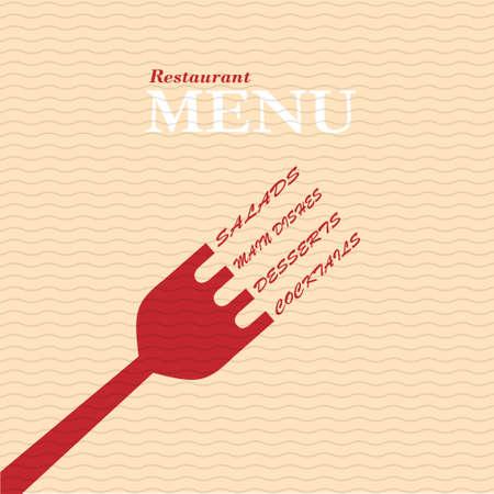 menu de postres: Restaurante con estilo tarjeta de men�. Vector de plantilla