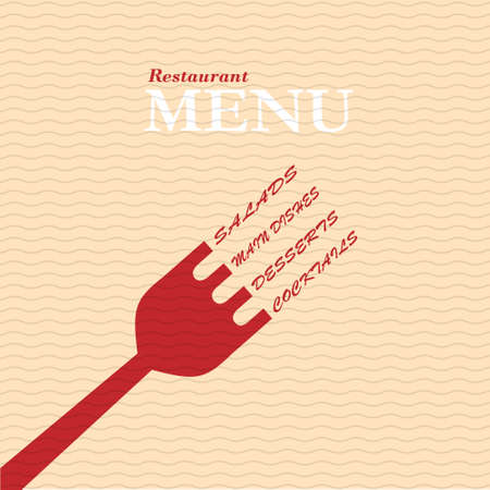 Stylish restaurant menu card. Vector template Vector