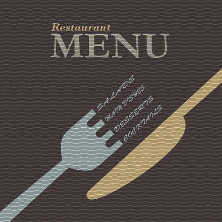 Stylish restaurant menu design. Vector template Vector