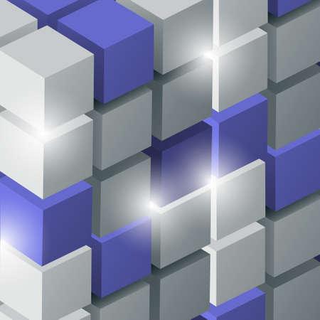 3d: arri�re-plan avec des cubes en 3D Illustration