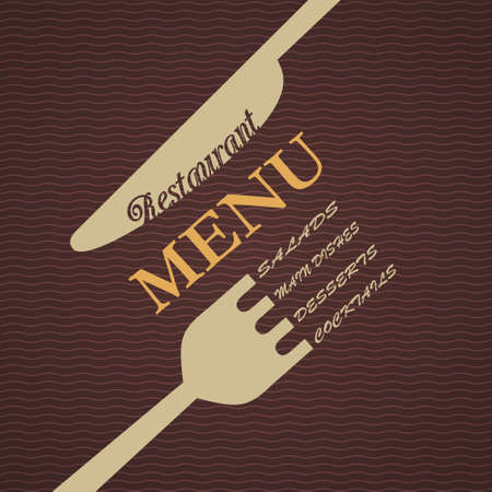 ristorante menu di progettazione Vettoriali