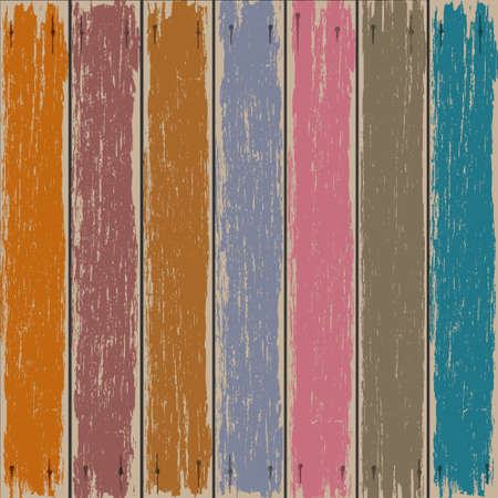 door plate: Colored old wooden fence background