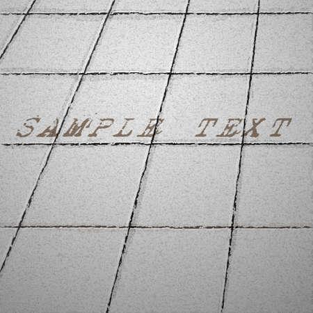 Tiles ground background Stock Vector - 14711021