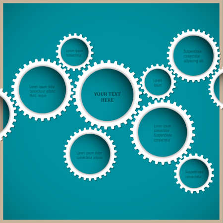 Abstract gear wheels.  Vector