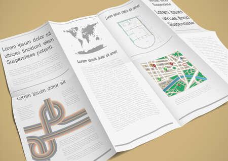 Folded paper booklet.  Vector