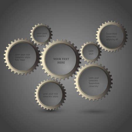 structure metal: Metallic gear wheels.