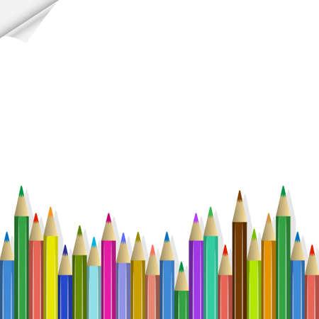 Vector de fondo con lápices de colores