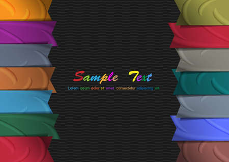 background with colorful silk ribbons  Vector