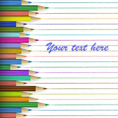 crayon drawing: colored pencils