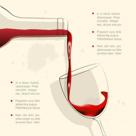 Wine pouring into wine glass   Stock Vector - 14920022