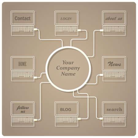 Concept web design template Stock Vector - 14920859