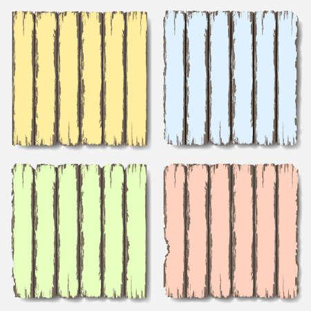 Oude houten hek in pastel kleuren in te stellen