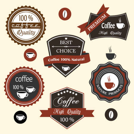 set of coffee labels Stock Vector - 14920849